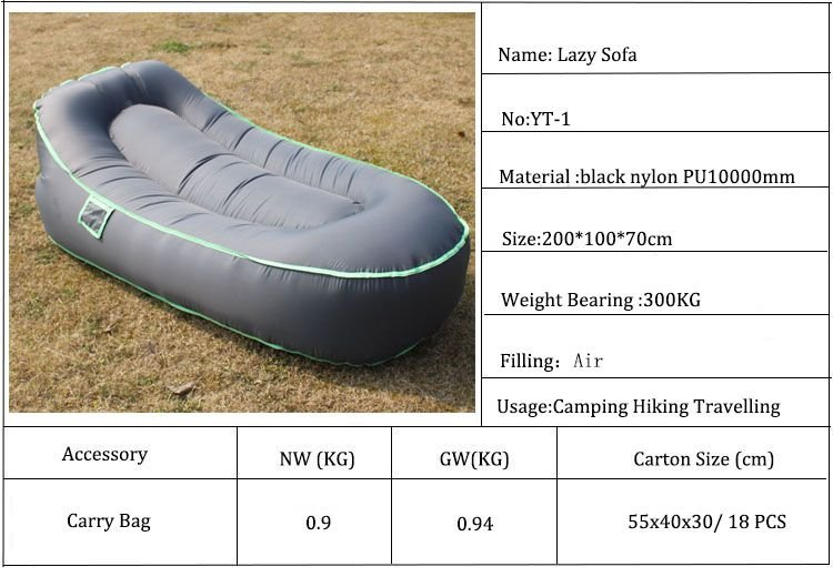 inflatable bean bag Blow up without air pump Hangingout sofa Pouch couch