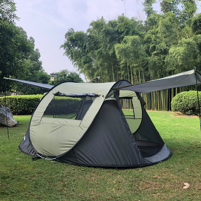 3-4 Person Sun Shelter Portable Camping Waterproof Automatic Big Luxury Tents Folding Pop Up Tent